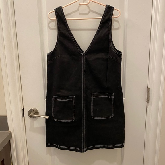 Black Denim Smock Dress